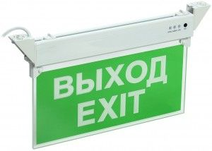 IEK Светильник аварийный ССА 2101, 3ч, 3Вт, ВЫХОД-EXIT, IP20  LSSA0-2101-3-20-K03