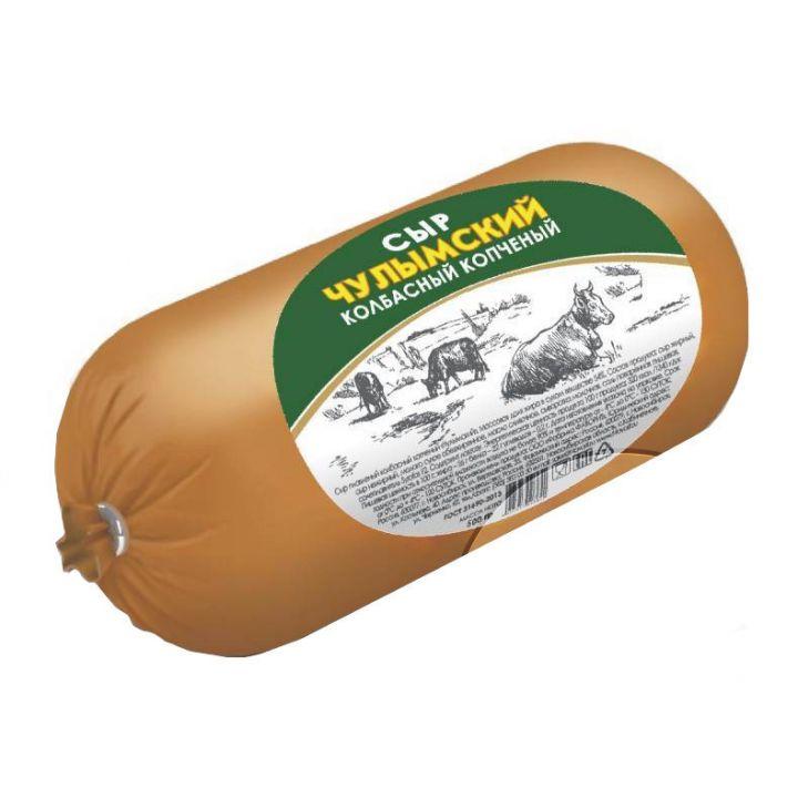 Сыр колбасный копченый Чулымский 500г Фаворит