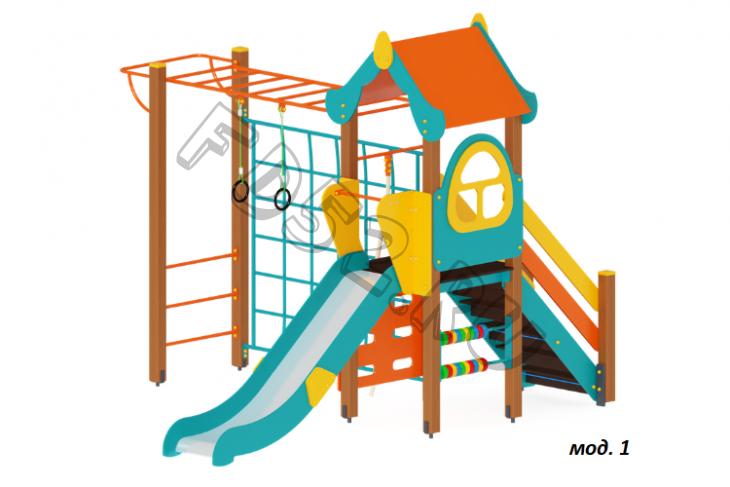 Детский игровой комплекс «Теремок» H=1200 4250х3540х3000