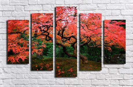 Модульная картина Розовое дерево