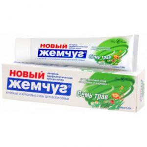 Зубная паста Новый жемчуг 120г/100 мл Семь трав