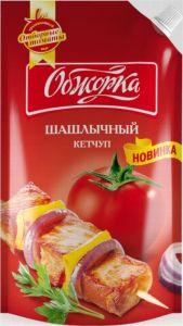 Кетчуп Шашлычный Обжорка д/п 500г 1х10
