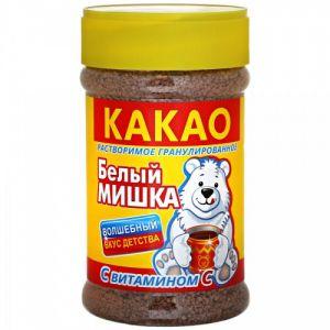 Какао белый мишка 375г*12 гран.