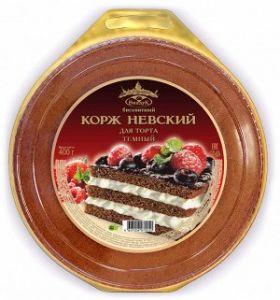 Корж Невский шоколадный (темный) 400 гр