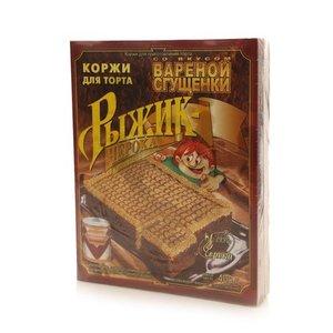 """Коржи для торта песочные 400 гр Вареная сгущенка (прямоуг.) """"Черока"""""""