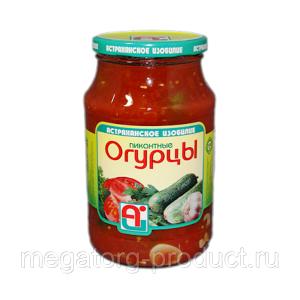 Огурцы марин. 900 гр с/б Пикантные Астраханское изобилие