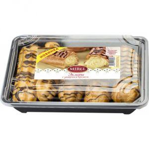 Пирожные Эклеры с заварным кремом 160 гр (Мирэль)