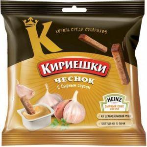 Кириешки Чеснок+сырный соус 60г.