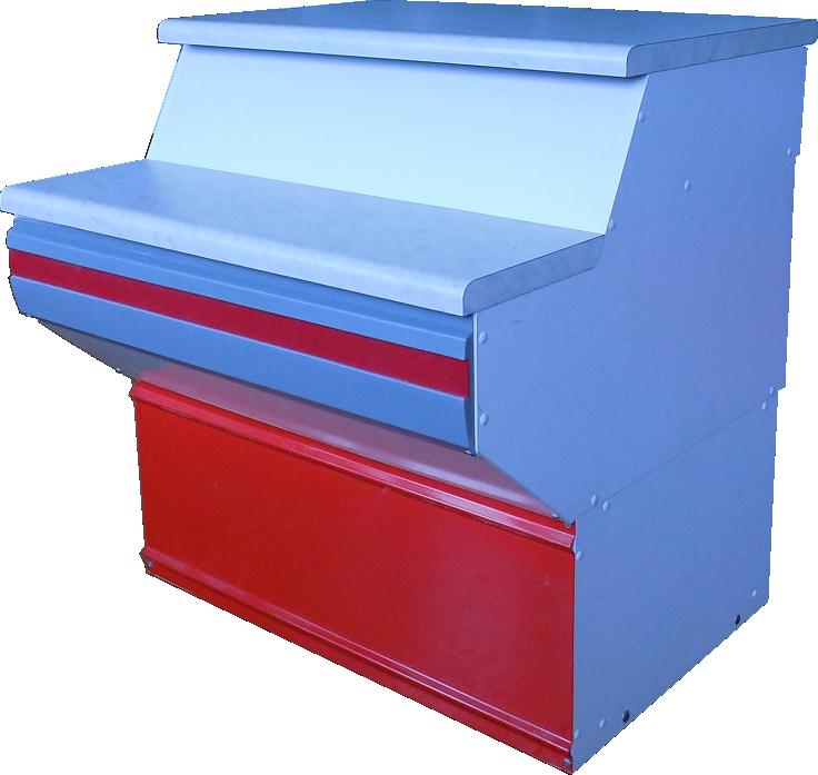 Неохлаждаемый прилавок Иней 8МП (с ящиком со замком)