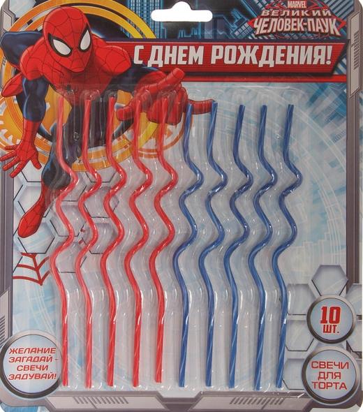 Набор свечей Человек Паук 10 шт