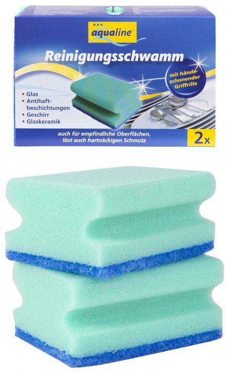 Aqualine Губка для мытья посуды 2 шт