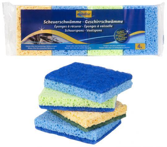 Aqualine Комплект губок для мытья посуды 4 шт