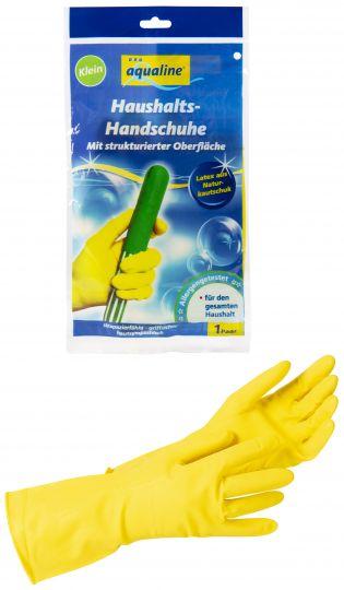Aqualine Бытовые резиновые перчатки лёгкие размер средний