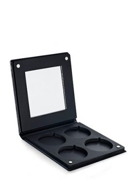 Make-Up Atelier Paris PRR4 Палитра-кейс на 4 цвета с зеркалом для пудры, теней и румян, черная