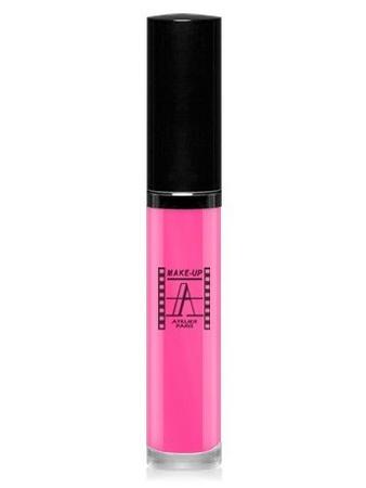 Make-Up Atelier Paris Long Lasting Lipstick RW11 Rose gaga Блеск для губ суперстойкий (роза Гага) розовый переливающийся