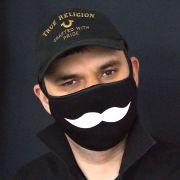 Прикольная маска с усами
