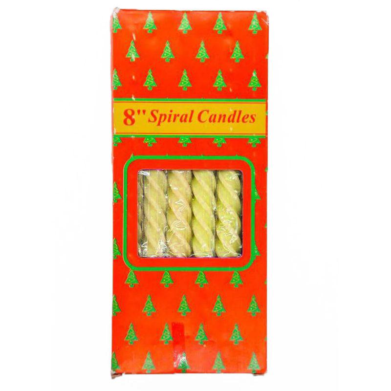 Свечи парафиновые витые Spiral Candles 20см 12шт (цвет жёлтый)