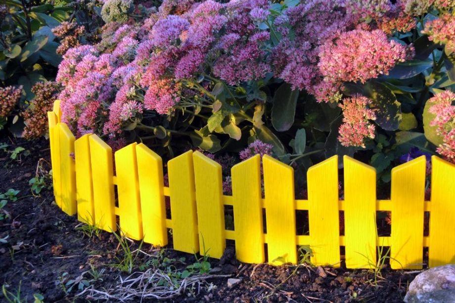 Бордюр Летний сад 16х300 см, 7 секций, цвет Желтый