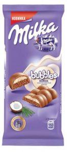 Шоколад MILKA Bubbles молочный пористый с кокосом 97г