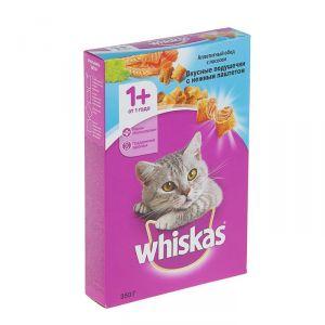 Корм для кошек WHISKAS подушечки С лососем 350г
