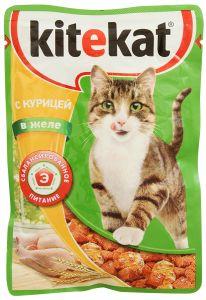 Корм для кошек KITIKАT Пауч курица в желе 85г