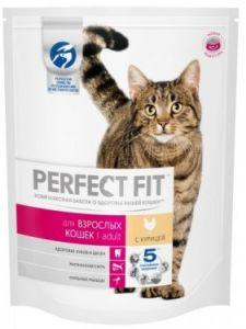 Корм для кошек PERFECT FIT с курицей 190г