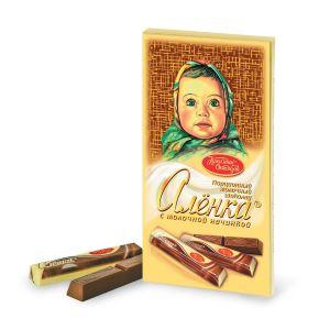 Шоколад АЛЕНКА молочная начинка в стиках Красный октябрь 100г