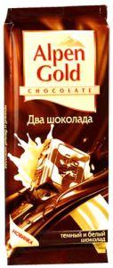 Шоколад ALPEN GOLD Белый/темный шоколад 90г