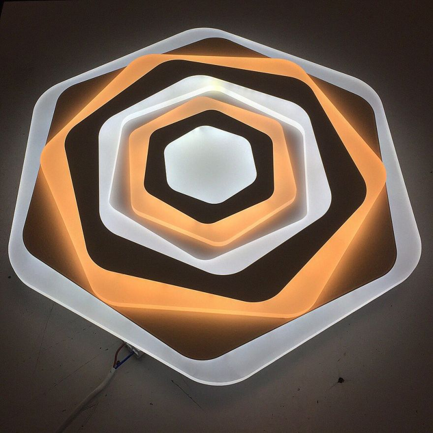Светильник светодиодный управляемый Estares Geometria Sota 80W белый с пультом ДУ