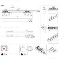 Комплект фурнитуры Krona Koblenz 0450-80 для скрытой линейной двери до 80 кг.