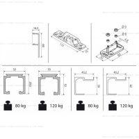 Комплект фурнитуры Krona Koblenz 0500-80/120 для двери до 80/120 кг