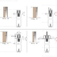 Комплект фурнитуры Krona Koblenz 0600-50 ABS на 1 дверь до 50 кг с доводчиком.
