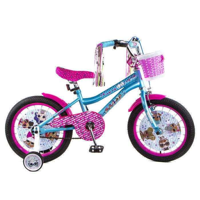 """Детский велосипед, Navigator LOL, колеса 16"""", стальная рама, стальные обода, ножной тормоз, защитная накладка на руле и выносе, кронштейн заднего ката"""