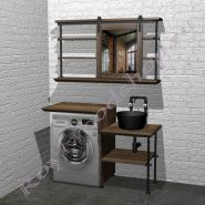 """Столешница с раковиной для ванной под стиральную машину """"Лофт-2"""" 120"""