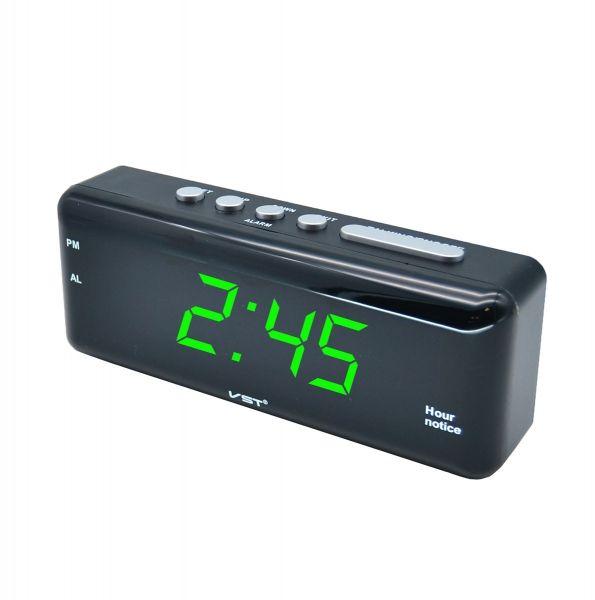 Часы эл. VST762T-4 зел.цифры