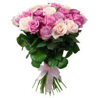 Сиренево-кремовые розы 60 см