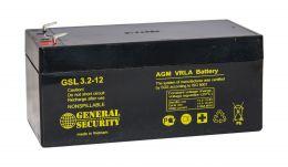 Аккумулятор General Security GSL3.2-12