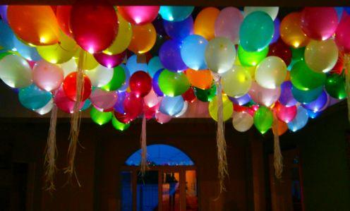 Светящиеся шары 30 см разноцветные С ГЕЛИЕМ