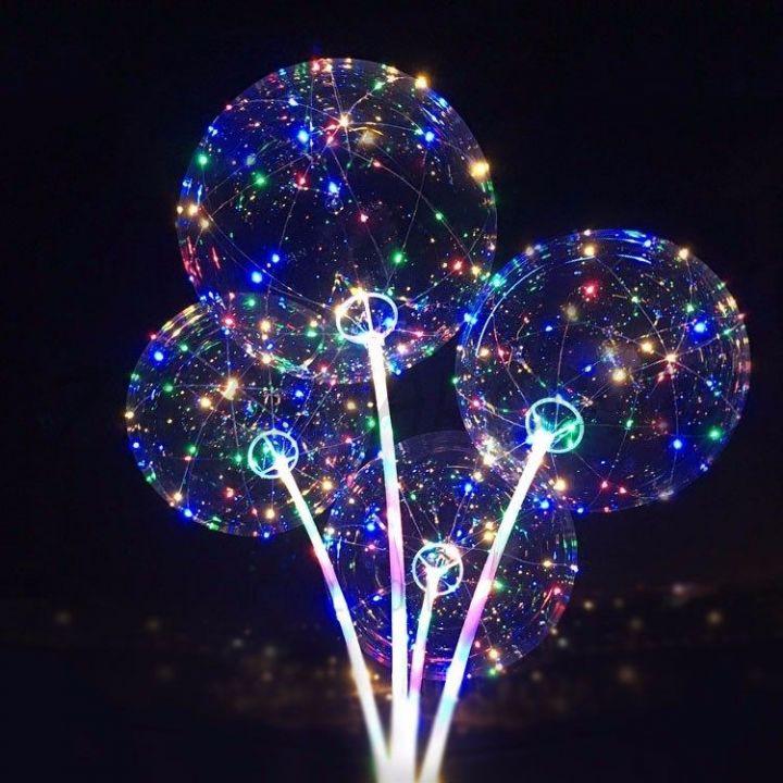 Светящийся LED шар на палочке 45 см