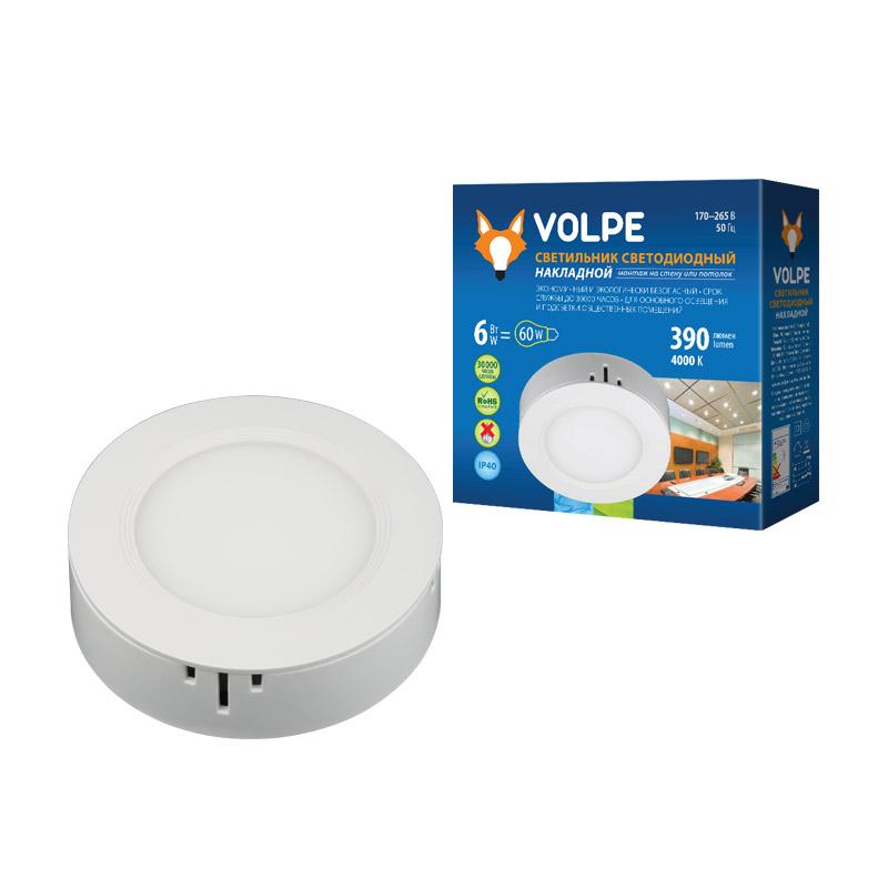 Светильник светодиодный Volpe 6W ULM-Q240 6W/NW WHITE