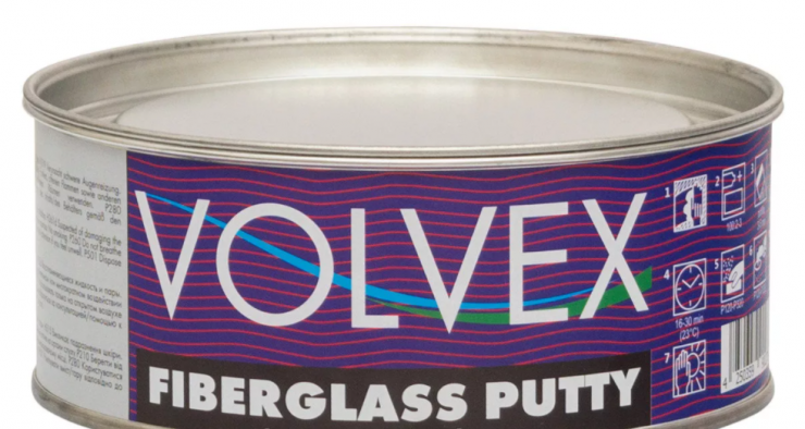 Шпатлевка Volvex Fiberglass Putty 1  кг