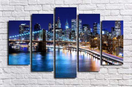 Модульная картина город 22