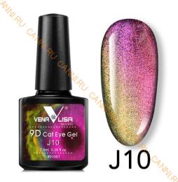 """Гель лак Venalisa """"Кошачий глаз - 9D Galaxy"""" Магнитный гель-лак #10"""