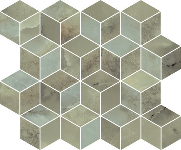 T017/14025   Декор Джардини зеленый мозаичный