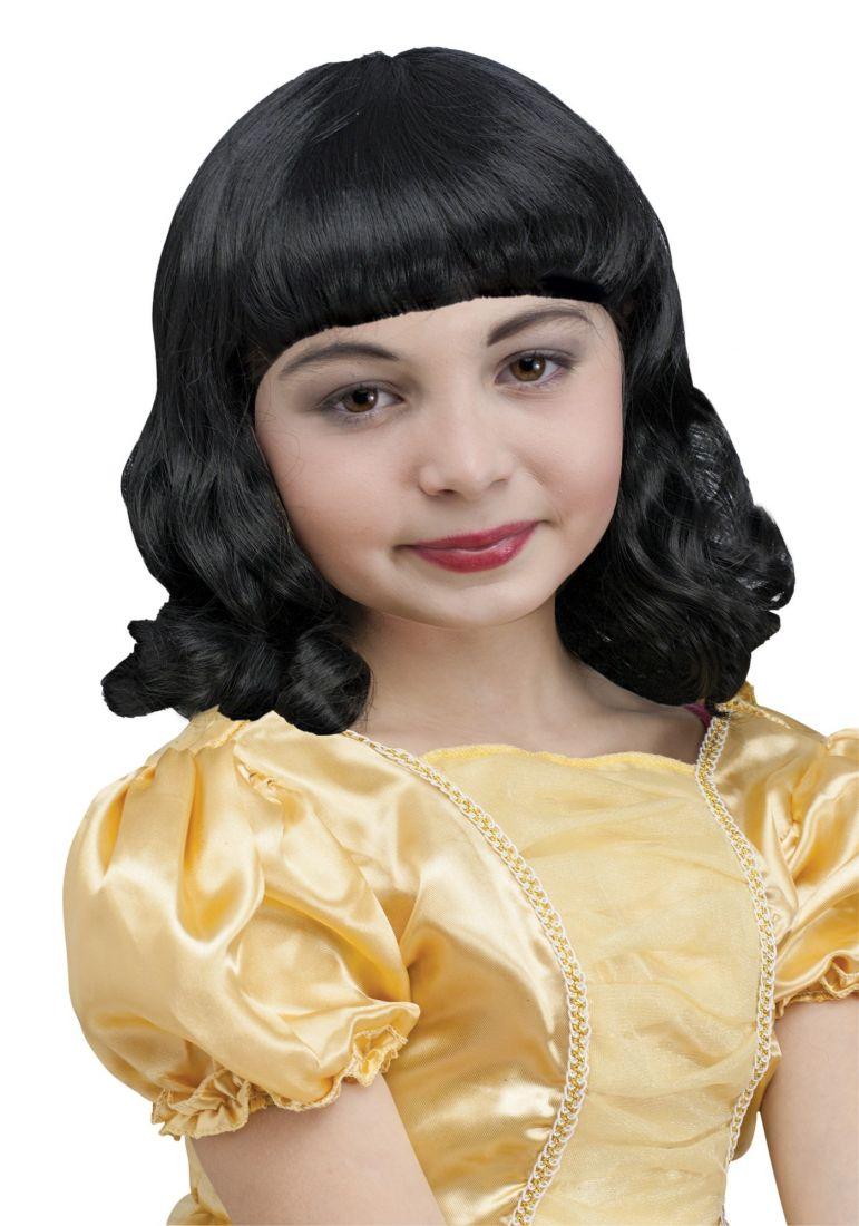 Черный детский парик