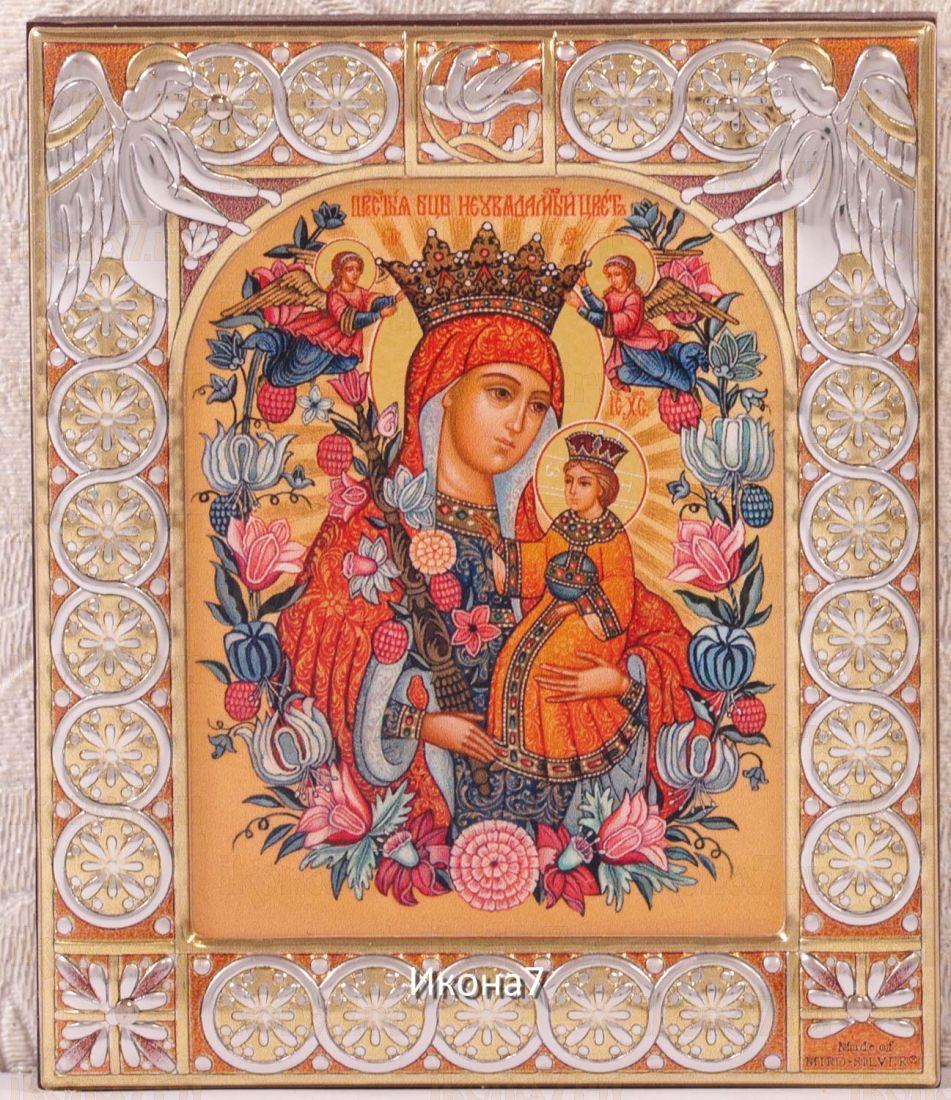 Неувядаемый Цвет икона Божией Матери (9х10,5см)