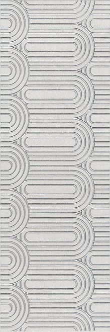 OP/A201/12136R | Декор Безана серый светлый обрезной
