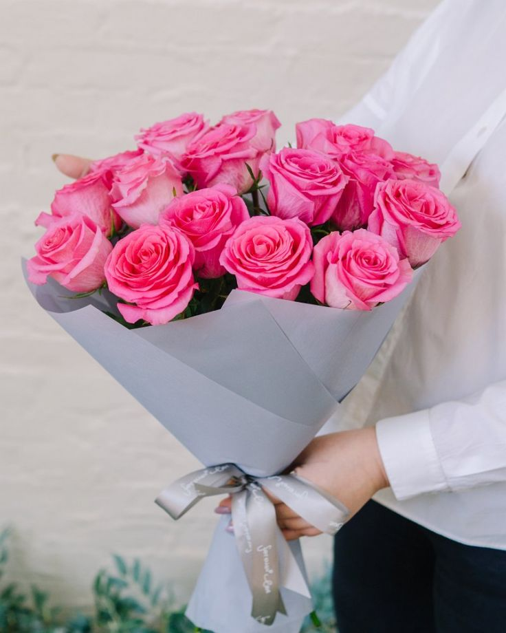 "Букет цветов из 17 роз ""Алые паруса"""