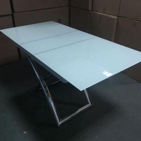 Стол трансформер B 2275 белое стекло