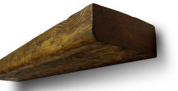 Деревянная Полка Брашированная ,Махагон,из массива Сосны